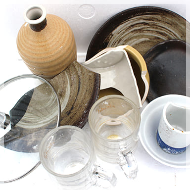 ガラス・陶磁器くず グラス、食器、ガラス製品、陶器