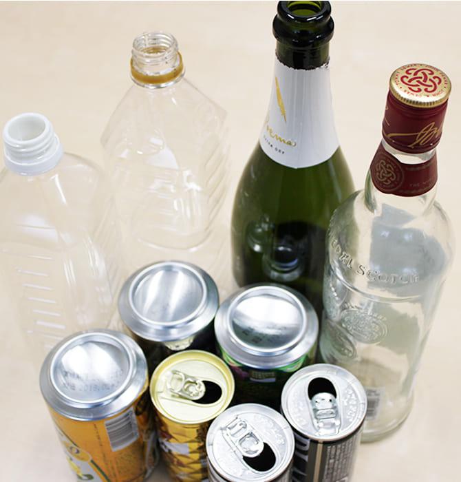 空き缶 空き瓶 ペットボトル